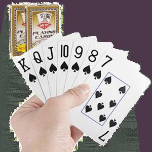 jeu de cartes avec des gros caractères - cadeau pour une personne âgée