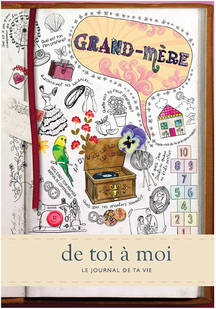 Journal mémoire - livre à remplir Grandmere