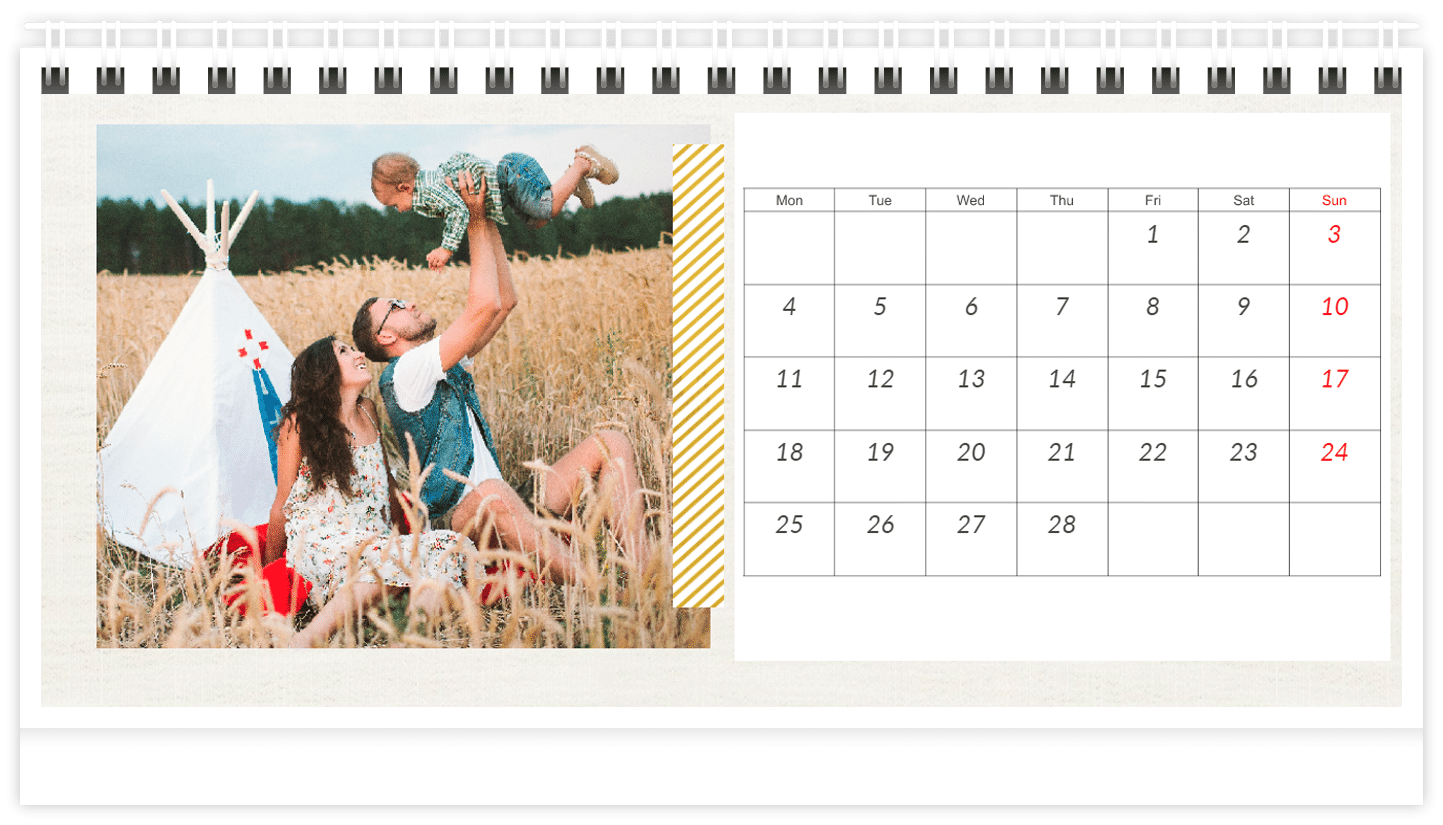 calendrier propres photos - cadeau femme 80 ans