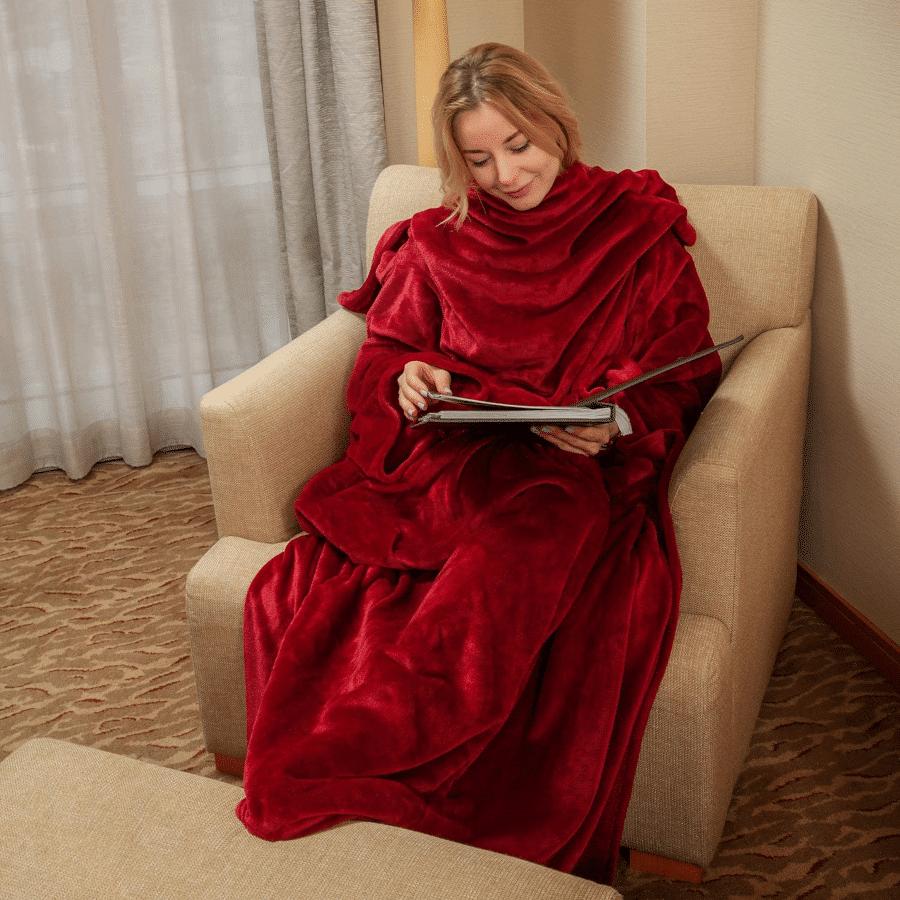 couverture à manches - cadeau mamie 85 ans
