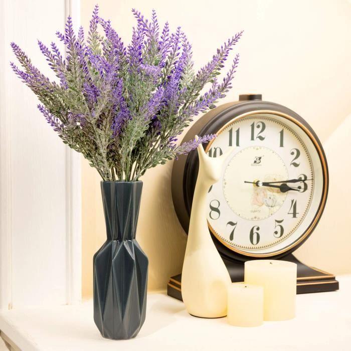 fleurs artificielles - lavande - cadeau pour grand-mère