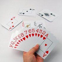 malvoyant jeu de cartes
