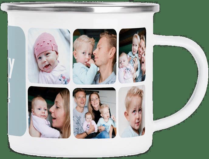 mug en émail - Tasse personnalisée avec photo