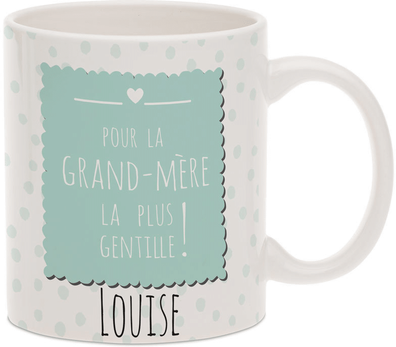 cadeau personnalisé pour mamie - mug