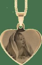 cadeau spécial pour Grand-mère - pendentif gravé photo