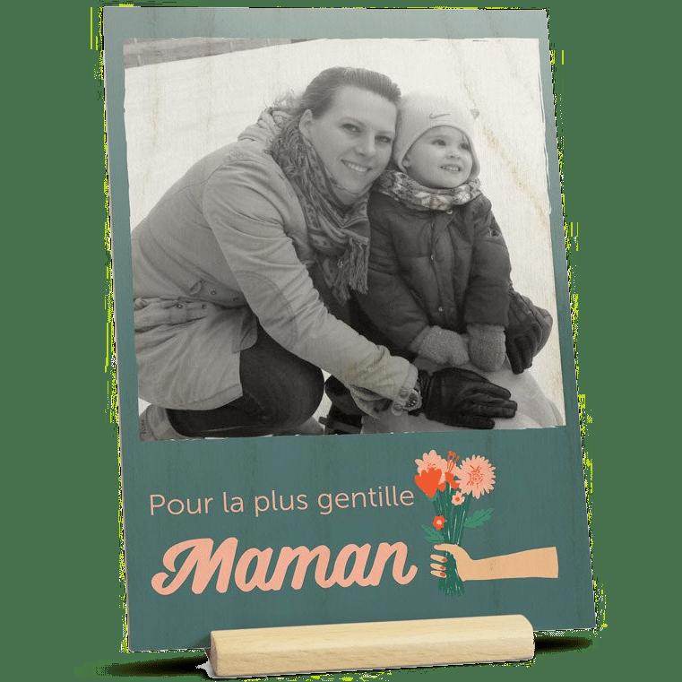 Cadeau pour la Fête des Mères - Carte en bois