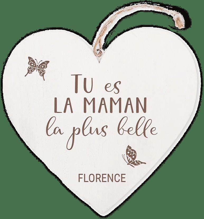 coeur en bois - Cadeau pour la Fête des Mères