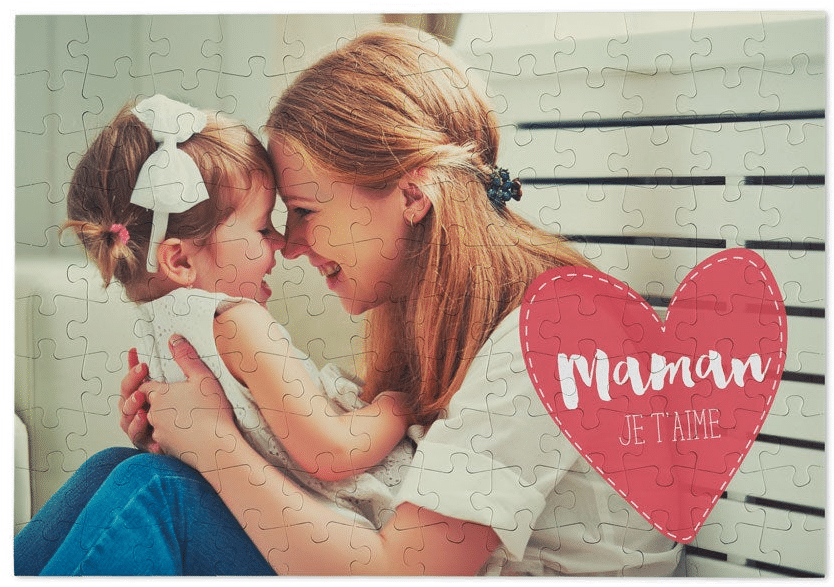 puzzle personnalisé - cadeau fête des mamans