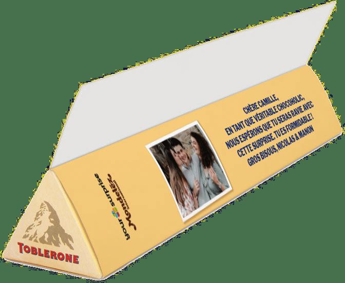 Chocolat personnalisé - cadeau de Noël pour une femme
