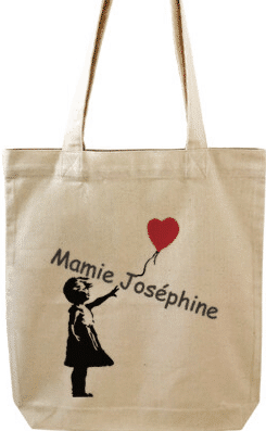 tote-bac personnalisé - cadeau pour mamie