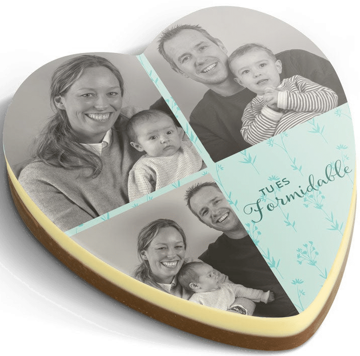 coeur en chocolat - cadeau personnalisé pour Grand-mère