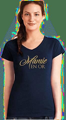 Shirt Mamie en Or - cadeau pour une future mamie
