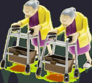 Cadeau de départ en retraite - racing grannies