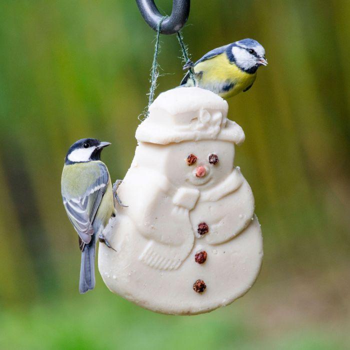 bonhomme de neige - nourriture oiseaux
