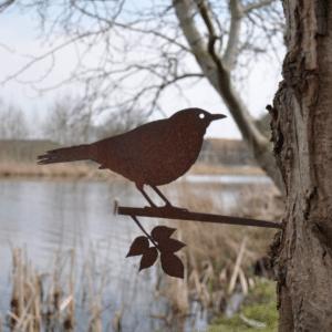 cadeau pour le jardin de grand-mère - oiseau en metal