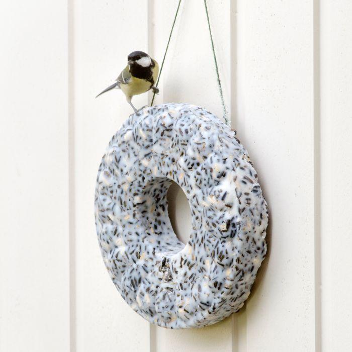 couronne de graines oiseaux - cadeau pour le jardin