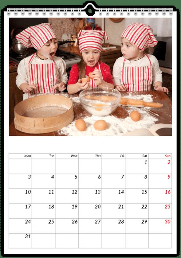 calendrier personnalisé - cadeau mamie
