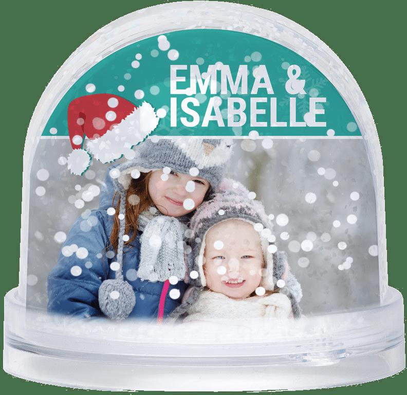 Boule à neige avec photo pour Grand-mère