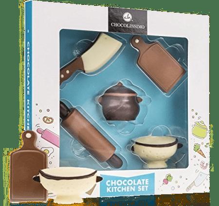 cadeau pour une mamie cuisinière - ustensiles de cuisine en chocolat