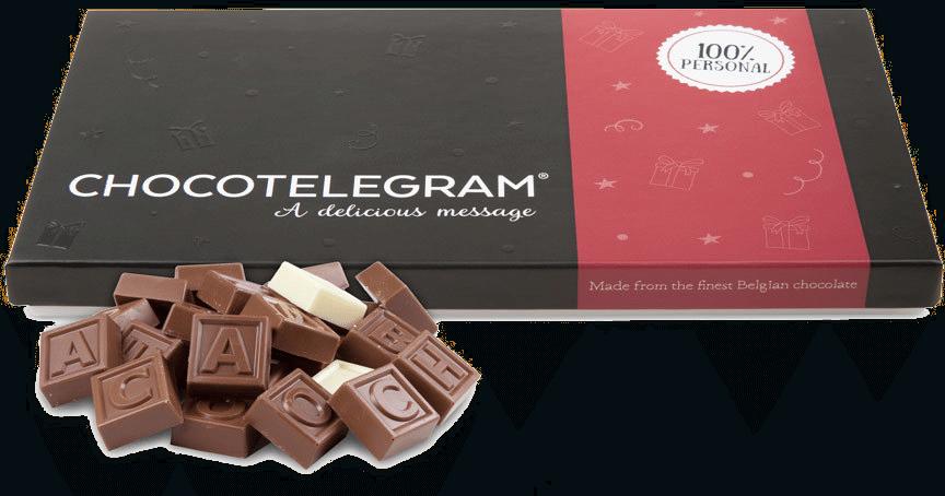 cadeau pour grand-mère - cadeau chocolat télégramme