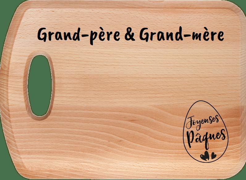 Cadeau Pâques pour Grand-père et Grand-mère - planche à découper