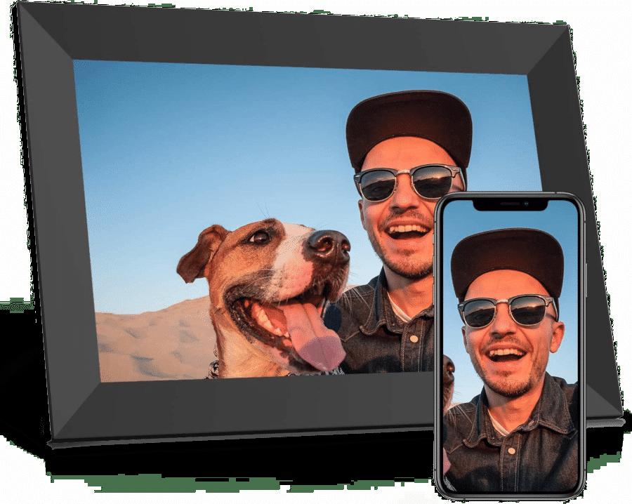 cadre photo numérique wifi - cadeau pour grands-parents