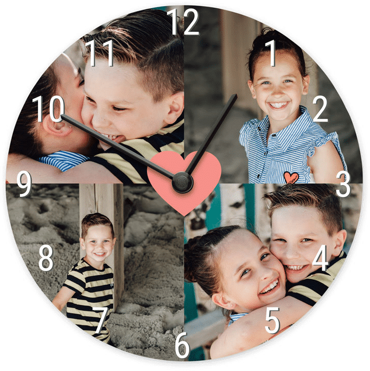 horloge avec propres photo - cadeau femme 80 ans