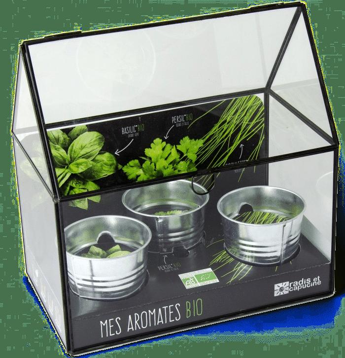 serre plantes aromatiques - cadeau pour une femme de 75 ans