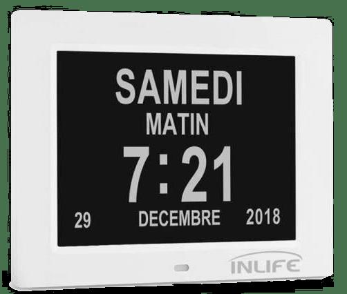 Horloge calendrier - Cadeau personne âgée
