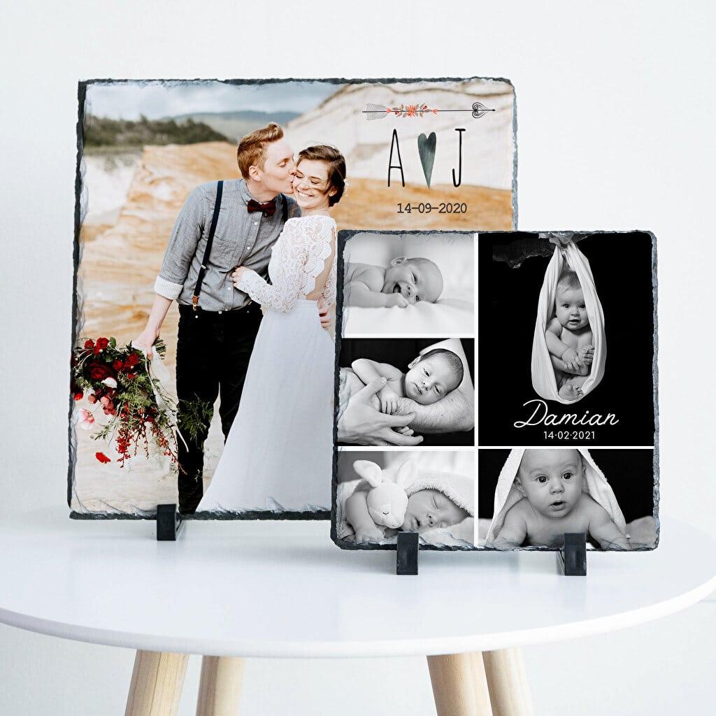 Photo sur pierre ardoise - Cadeau photo pour Grand-mère