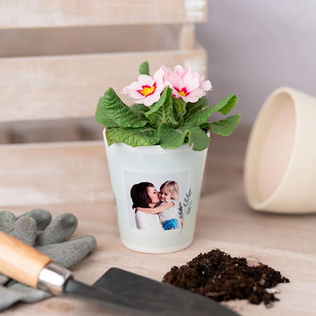 Pot de fleur avec photo - Cadeau photo Grand-mère